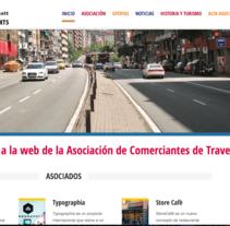 Associació de comerciants de travessera de dalt. Um projeto de Desenvolvimento Web de Andreu Sorolla Casas - 04-05-2017