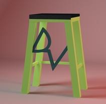 Silla/Taburete DeporVital. A 3D project by Raúl Martínez         - 04.05.2017