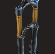 3D Modeling - Enduro Fork Fox 36. A 3D, Industrial Design, and Product Design project by Javier Cámara - 08-05-2017