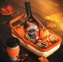 Baileys Pumpking Spice. A Illustration, Br, ing, Identit, Packaging, and Lettering project by Sindy Ethel & Alan Rodríguez (R3DO)         - 08.05.2016