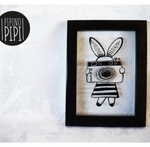 Serigrafía e Ilustración para PIPINO PIPI; Arte para los mas chiquitos. Um projeto de Design, Ilustração, Design de personagens, Artesanato e Serigrafia de Yanina ARAVENA         - 15.05.2017