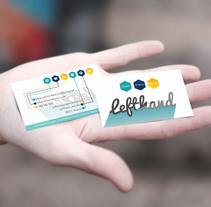 Tarjetas de visita. A Br, ing, Identit&Infographics project by lefthand_estudio         - 01.01.2017