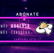 Vídeo presentación campaña 2016 Club de Baloncesto Femenino Conquero Huelva. Un proyecto de Música, Audio, Motion Graphics, Diseño de títulos de crédito, Marketing, Post-producción, Vídeo, Infografía y Producción de Eduardo Gancedo         - 15.05.2016