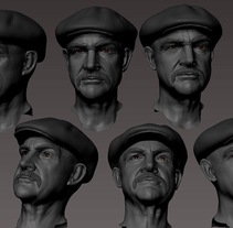 Sean Connery work in progress. Un proyecto de 3D de Rafa  Zabala  - 23-05-2017