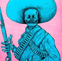 ¡Viva Zapata!  . Un proyecto de Diseño, Ilustración, Diseño de personajes, Pintura, Serigrafía y Comic de Felipe Vasconcelos - 26-05-2017
