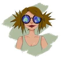 sunglassesGirl. Um projeto de Ilustração e Design de acessórios de Natalia Chico Soria         - 07.06.2017