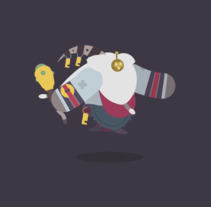 Gifs of Legends - BARD. A Illustration, Motion Graphics, Film, Video, TV, Animation, Character Design, and Vector illustration project by Manuel Díaz Delgado - 14-06-2017