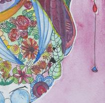 mujer de lentes azules. Un proyecto de Ilustración de Cecilia Macedo - 21-06-2017