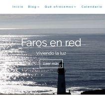 Faros en Red. Diseño web. Um projeto de Web design de Ana García         - 26.06.2017