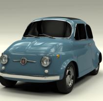 Fiat 500 (1967). Un proyecto de 3D de Eva Rodriguez Garcia - 17-01-2017