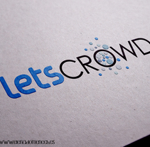 Logotipo: LETS CROWD. A Design, and Graphic Design project by Elena Doménech - 05-07-2017