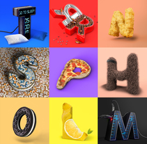 36Daysoftype short version.. A 3D, Art Direction, and Graphic Design project by Gonçalo Soares - 10-07-2017