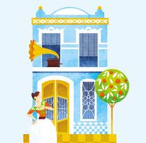 Una casa que fa cantonet. El Cabanyal. Un proyecto de Ilustración y Diseño editorial de Marta Chaves - 01-06-2016