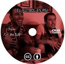 "Caratula y galleta DVD  ""El fútbol es así"". A Graphic Design project by Marcos Flórez Tascón         - 02.08.2017"