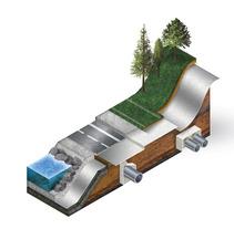 Gráficos técnicos Geotextiles. Um projeto de Design, 3D, Animação, Arquitetura, Design industrial, Paisagismo e Design de produtos de Luis Gomariz         - 17.08.2017