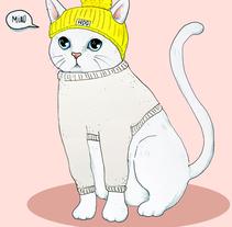 Vestir al gato (proyecto para clase de Nuevas formas publicitarias). Um projeto de Ilustração de Julia Mora Crespo         - 20.12.2015