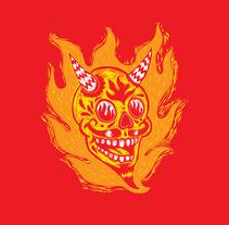 Diseño de imagen para productora de televisión canadiense El Diablo VFX. Un proyecto de Dirección de arte, Br, ing e Identidad, Bellas Artes y Diseño gráfico de Zoveck Estudio  - 01-02-2014