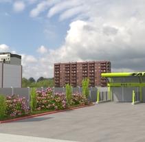 Recreación 3D de la construcción de gasolineras FASTFUEL y opcionales.. Un proyecto de 3D, Animación y Vídeo de Miguel Angel Calvo - 30-04-2017