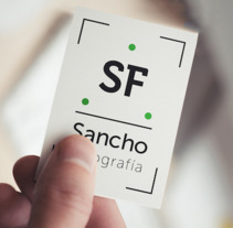 Branding Sancho Fotografía. A Photograph, Br, ing, Identit, and Graphic Design project by Carlos Juan Vera Clemente - 31-08-2017