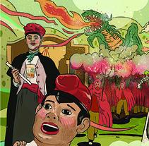 Diseño de programa Fiestas de Ordal 2017. A Illustration, and Graphic Design project by Rosa Codina         - 04.08.2017