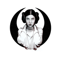 LEIA - Retrato ilustrado con Photoshop. A Design&Illustration project by Javier Alés         - 04.08.2017