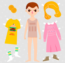 Paper Dolls & Female Characters. A Illustration, Character Design, and Vector illustration project by Fabiola Correas - 11-09-2017