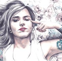 Azulclaritocasiblanco. Um projeto de Ilustração, Artesanato e Artes plásticas de Crisbel Robles         - 10.11.2015