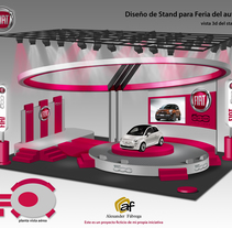 Stand Fiat 500. A Graphic Design project by Alexander Enrique Fábrega Cogley - 17-09-2017