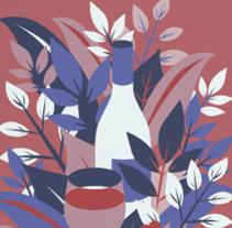 Propuesta de cartel para el I Salón del vino en Tenerife de GUÍA PEÑIN. Un proyecto de Diseño, Ilustración, Diseño gráfico e Ilustración vectorial de LLO_ Lidia Lobato - 07-05-2017
