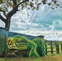 Fenix art ciudad valles mural. A Street Art project by Héctor Armando Domínguez Rodríguez - 19-09-2017