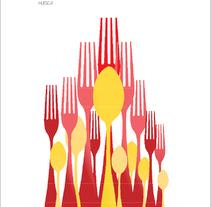 XXV Jornadas Gastronómicas. Un proyecto de Diseño, Publicidad, Diseño gráfico, Tipografía e Ilustración vectorial de Carla Ochoa  - 26-09-2017