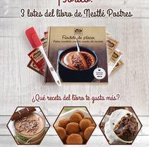 Sorteo 3 libros de Nestlé Postres. Um projeto de Design gráfico de Iris Álvarez Farell - 20-04-2017