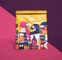 YUME . YOUSHI LUNCHBAG (BISTRO). A Illustration, Art Direction, Character Design, Packaging, and Product Design project by Jhonny  Núñez - 09-10-2017