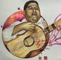 Negro Marcelino Huapango. A Design, Illustration, Fine Art, Painting, and Street Art project by Héctor Armando Domínguez Rodríguez - 11-10-2017