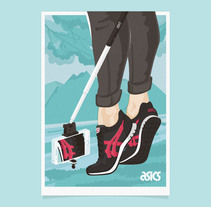 KEY VISUAL ASICS TIGER. A Illustration, Graphic Design, and Vector illustration project by ivan bügel - 16-05-2016