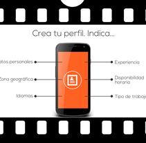 Vídeo corporativo app BarmanJobs. Um projeto de Cinema, Vídeo e TV, Br, ing e Identidade e Produção de Edith Llop Roselló         - 16.09.2017