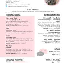 CV. A Editorial Design, and Graphic Design project by Alba García         - 10.06.2017