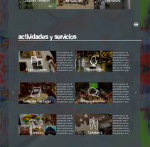 Diseño web para centro cultural Lanz del Pozo. A Graphic Design, and Web Design project by Tahimi Leon Bravo - 01-12-2016