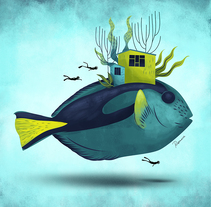 Deep Blue. Un proyecto de Ilustración, Dirección de arte, Diseño editorial y Bellas Artes de Rosemarie  - 02-11-2017