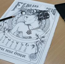 Mes febrero 2016 calendario Andigraf. Un proyecto de Ilustración de Oscar Geovani Vergara Arias         - 06.11.2015