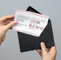 Wedding invitation. A Graphic Design project by Alba Luis Riera - 05-11-2016