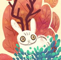 It's a jackalope!. A Design, Illustration, and Character Design project by Gema Moratilla         - 10.11.2017