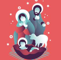 Betlem - Ilustración. A Vector illustration project by Pistacho Studio  - 16-11-2017