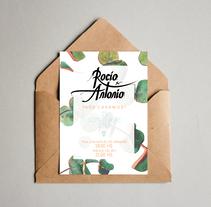 Boda Rocío&Antonio - Wedding Identity. Un proyecto de Diseño gráfico y Lettering de Marina Malmar         - 27.09.2017