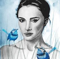 Mi Proyecto del curso: Retrato ilustrado en acuarela: Natalie. A Fine Art project by María Belén De Rienzo         - 27.11.2017