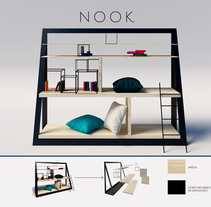 NOOK - estantería para leer. A 3D, Furniture Design&Industrial Design project by Ivanka Moravová         - 17.03.2017