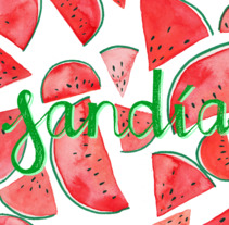Sandía & Melón. A Illustration, and Lettering project by Isabel Emene         - 10.07.2017