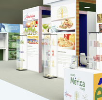 Stand Mérica foods. A 3D, Interior Architecture&Interior Design project by Toni Ortin         - 23.11.2017