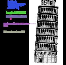Torre de pisa. Un proyecto de Educación de Zaira Gonzalez         - 01.12.2017