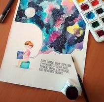 Toñín y el cosmos. A Illustration project by Marta Dorado         - 03.12.2017